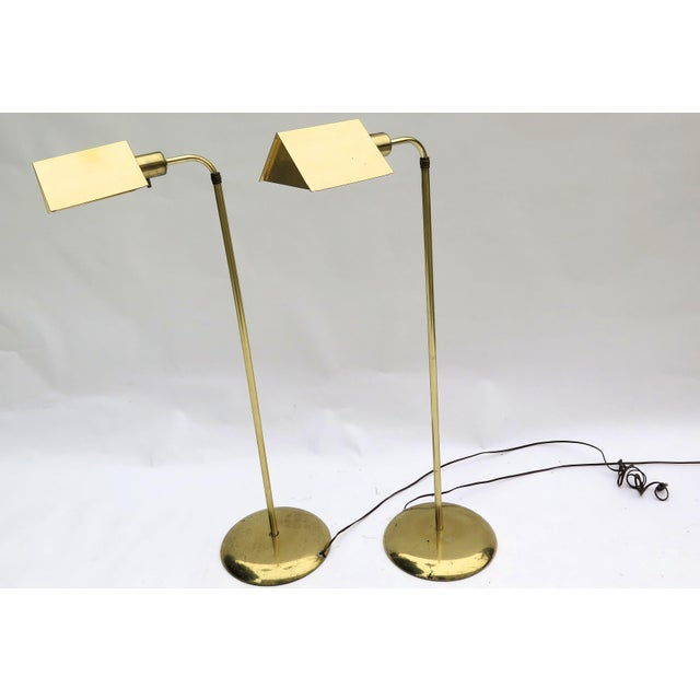 1970s Vintage Cedric Hartman Style Floor Lamps - a Pair For Sale - Image 5 of 5