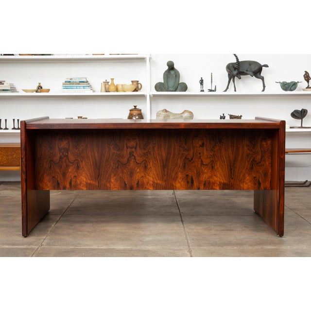 1960s Rosewood Executive Desk For Sale - Image 5 of 11