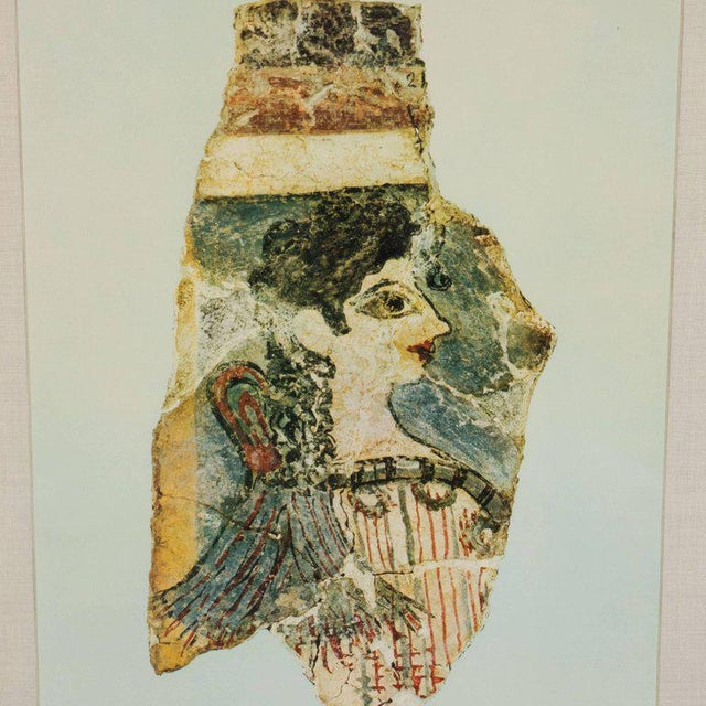 Mediterranean Modernist Print of a Greek Antiquities Pottery Fragment in Custom Gallery Frame For Sale - Image 3 of 10