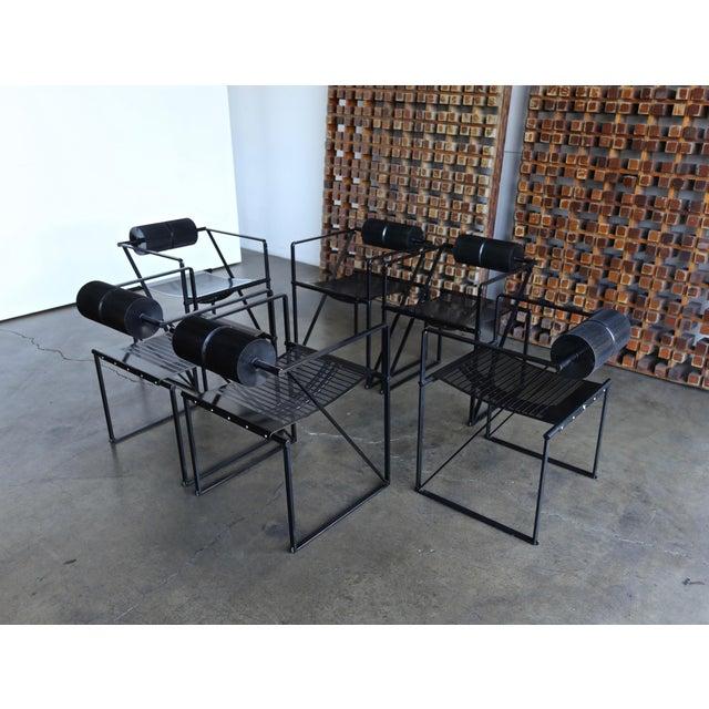 Set of six Seconda 602 armchairs by Architect Mario Botta for Alias, Italy, 1982.