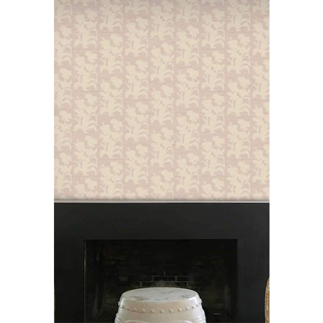 Contemporary Suzani Floral Large Lilac and Natural Wallpaper For Sale - Image 3 of 4