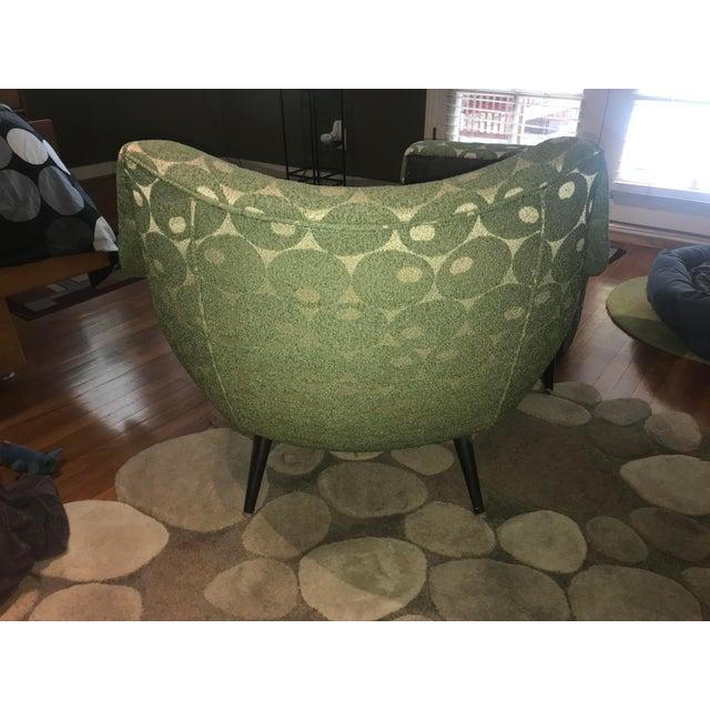 Eero Saarinen Mid-Century Mod Martini Olive Club Chair and Ottoman For Sale - Image 4 of 10