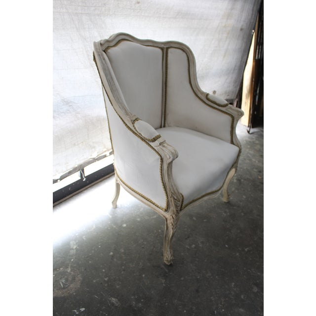 Early 20th Century Anrique French Bergère Chairs - A Pair For Sale - Image 4 of 9