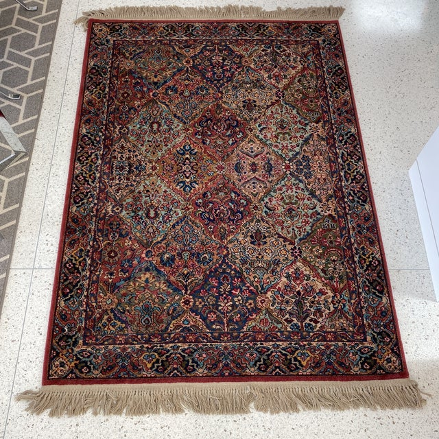 "Up for sale is as vintage Karastan ""Persian"" rug. 100% Wool - Made in USA"