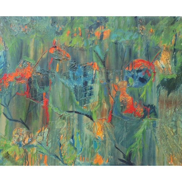 Jackie Johnson Vintage 1960's Abstract Painting - Image 3 of 5