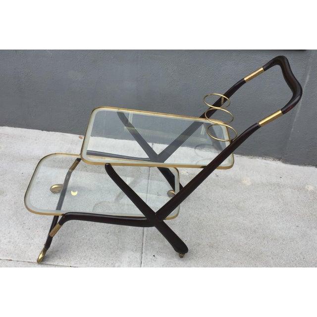 Cesare Lacca 1950s Vintage Italian Cesare Lacca Bar Cart For Sale - Image 4 of 10