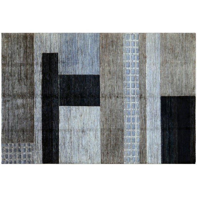 Monochrome Gabbeh Rug - 6′7″ × 9′7″ - Image 1 of 4