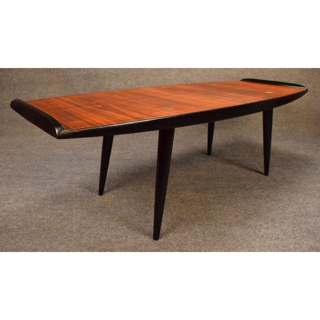 1960s Danish Modern Rosewood Coffee Table For Sale - Image 4 of 9
