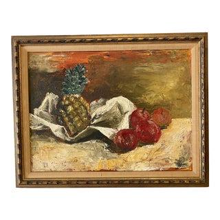Still Life of Fruit Oil Paining For Sale