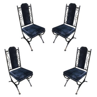 Mid-Century Dining Chairs With Scrolling Pattern - Set of 4 For Sale