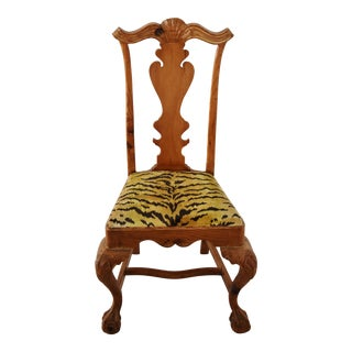 Italian Scalamandre Le Tigre (Tiger) Velvet Side Chair For Sale