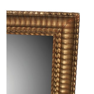 Gilt Napoleon III Mirror With Small Flame Stitch Pattern Trim Frame Preview