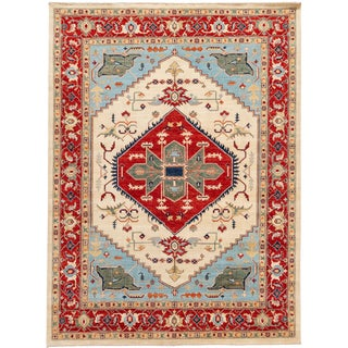 "21st Century Modern Serapi-Style Rug, 8'10"" X 11'10"" For Sale"