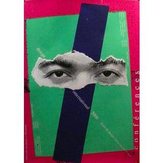 2006 Original Design Conference Poster, Eyes - Alfred Halasa For Sale