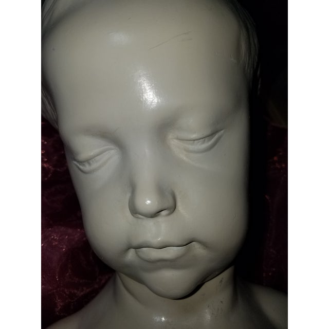 "Austin Productions 1978 Austin Production Inc. ""Bust of a Little Girl"" - Slay Reproduction Sculpture For Sale - Image 4 of 7"