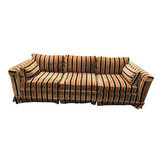 1970s Vintage Striped Sofa For Sale