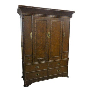 Tortoise Shell Faux Bamboo Cabinet