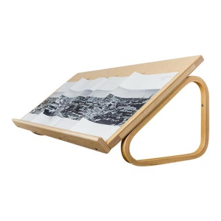 VIntage Blond Wood Magazine Shelf by Alvar Aalto for Artek 1950s
