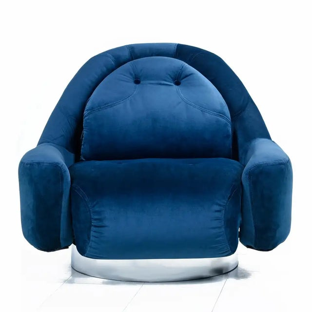 Guido Faleschini Swivel Lounge Chair by Mariani for Pace For Sale - Image 10 of 10