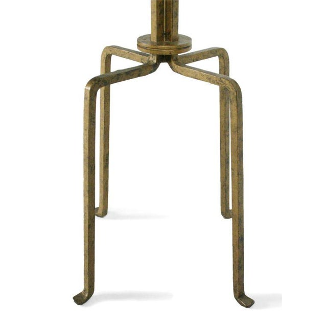 Mid-Century Modern Gilt Wrought Iron Candelabra Floor Lamp by Tommi Parzinger For Sale - Image 3 of 9