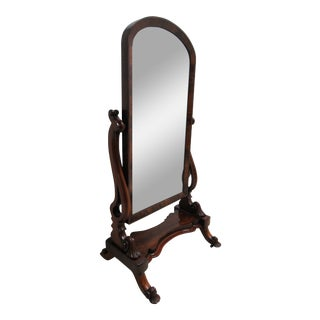 20th Century French Empire Cheval Full Length Dressing Mirror For Sale