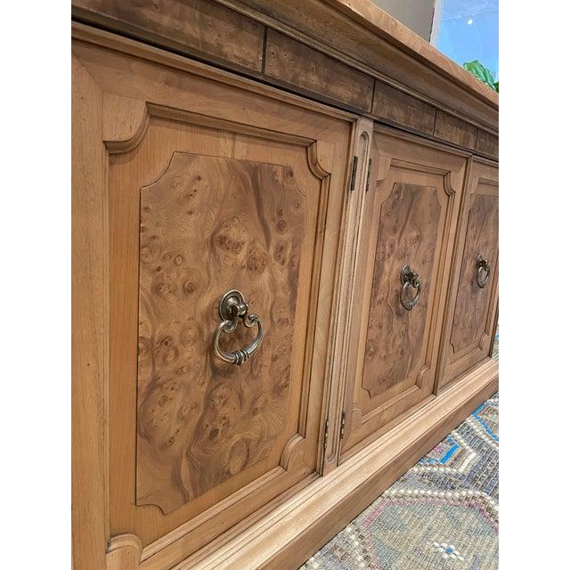 Mid-Century Modern Vintage American of Martinsville Burl Wood Storage Cabinet For Sale - Image 3 of 8