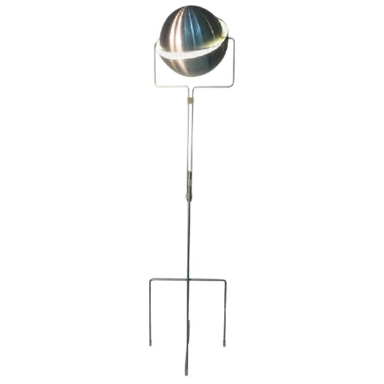 Distinguished articulated italian globe floor lamp in burnished articulated italian globe floor lamp in burnished aluminum image 1 of 2 aloadofball Choice Image