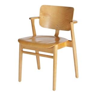 Ilmari Tapiovaara for Artek Domus Chair in Honey Stained Birch For Sale