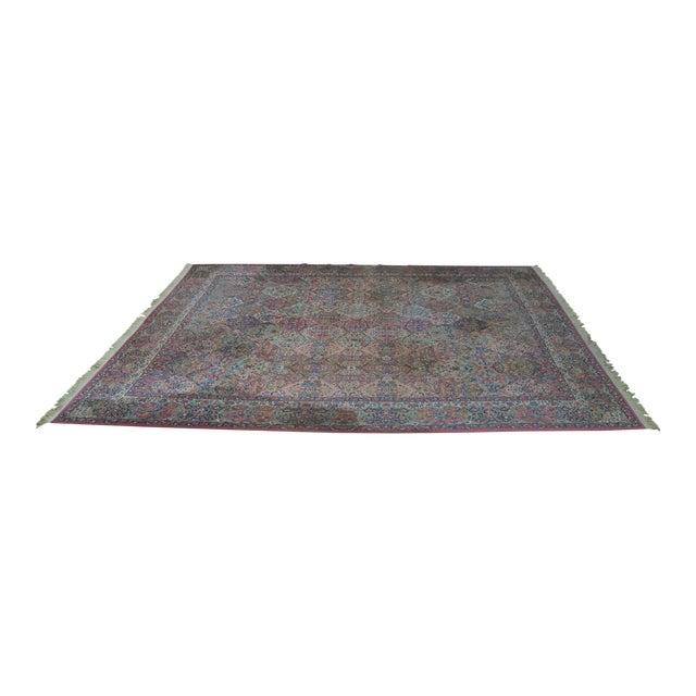 Karastan #717 Multi Panel Kirman Large Room Size Rug For Sale