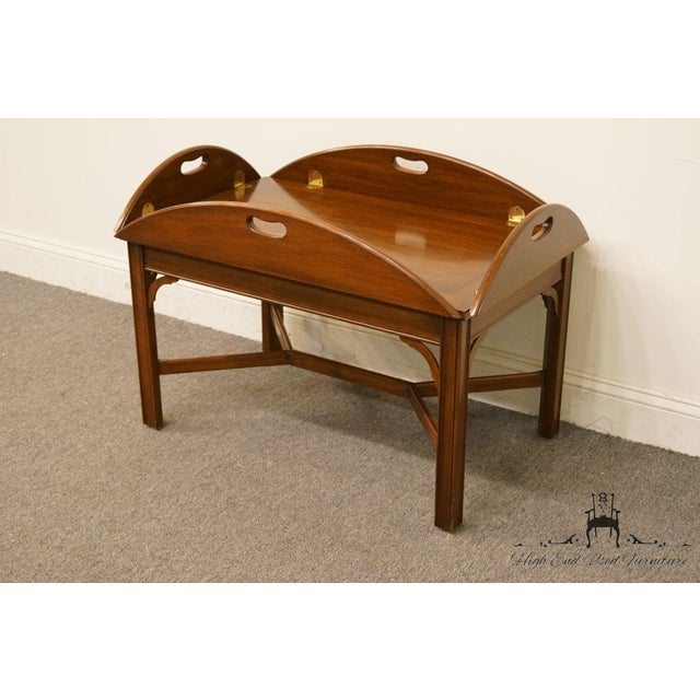 Henkel Harris 20th Century Traditional Solid Wild Black Cherry Butler S Coffee Table For