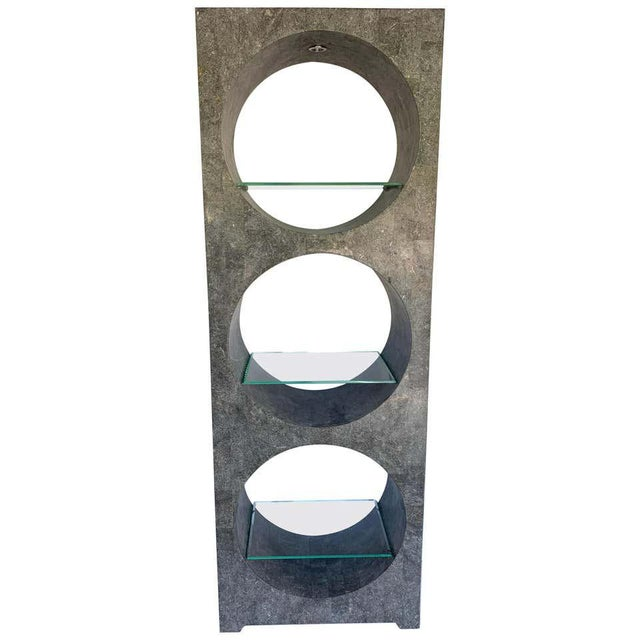 Modern Tessellated Stone Monolithic Bookcase / Vitrine For Sale - Image 13 of 13
