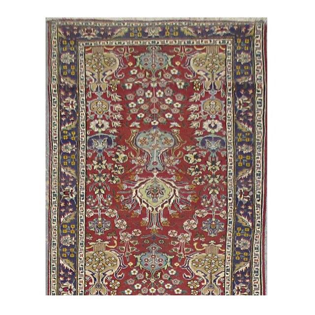 Islamic Vintage Persian Tabriz Rug - 3'2''x14'2'' For Sale - Image 3 of 3