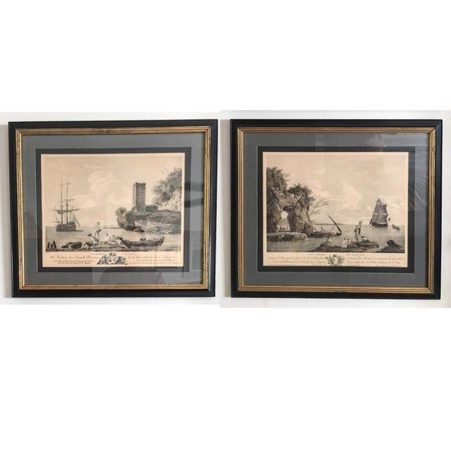 Antique French Nautical Engravings - a Pair For Sale - Image 11 of 12