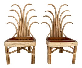 Image of Newly Made Rattan Side Chairs