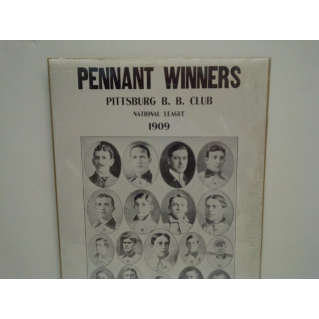 Americana 1909 Pennant Winners Pittsburg Baseball Club National League Poster For Sale - Image 3 of 4