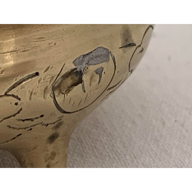 Vintage Chinese Brass Couldron Pots Set of 2 For Sale - Image 12 of 13