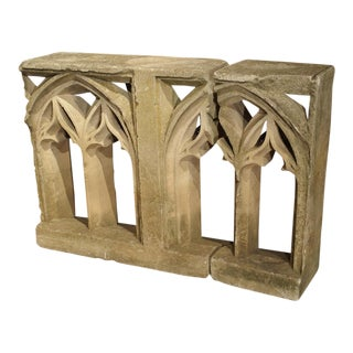 18th Century Carved Limestone Gothic Fragments from France