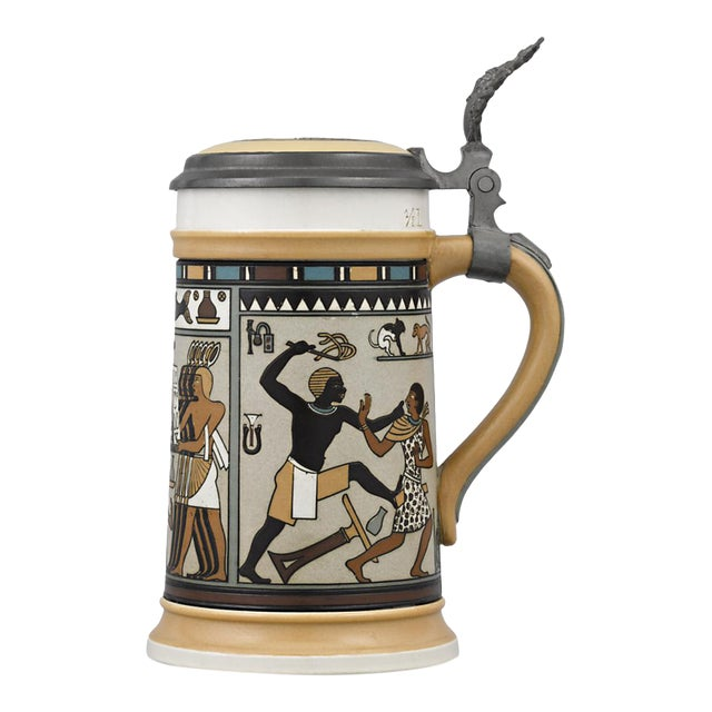 Egyptian Mettlach Beer Stein For Sale