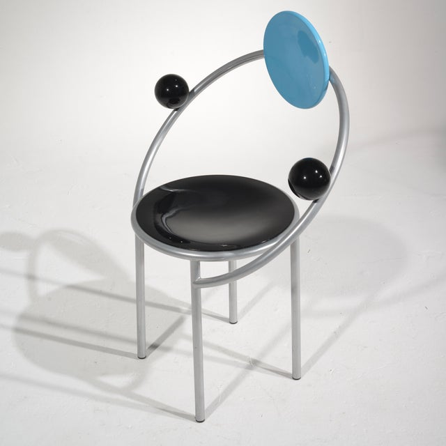 Michele De Lucchi Michele De Lucchi First Chair for Memphis, Milano For Sale - Image 4 of 13