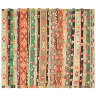 "1950s Vintage Turkish Kilim - 5'1"" X 6' For Sale"