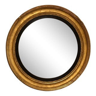 Formations From Holly Hunt Custom Round Gold Frame Wall Mirror