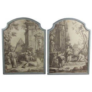 French Grisaille Panels - A Pair For Sale