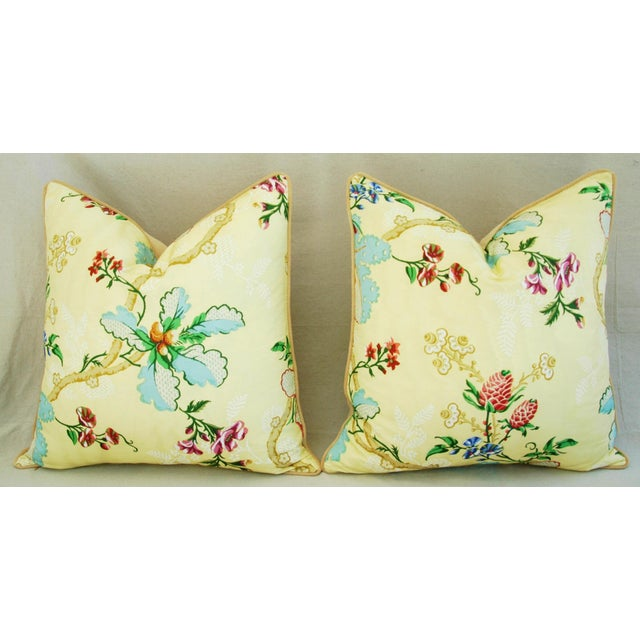 "Brunschwig & Fils Fabriano Feather/Down Pillows 24"" Square - Pair For Sale - Image 9 of 14"