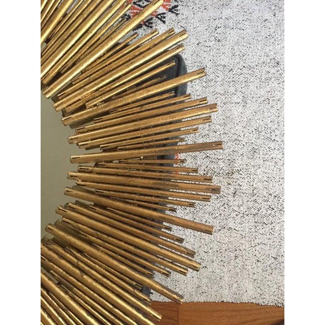 Boho Chic Prescott Oval Sunburst Mirror For Sale - Image 3 of 6