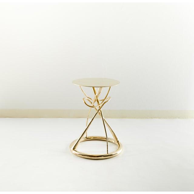 Modern Pair of Brass Gueridon Table, Gordian Node, Misaya For Sale - Image 3 of 7