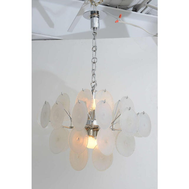 Vistosi Iridescent Disc Chandelier For Sale - Image 10 of 10