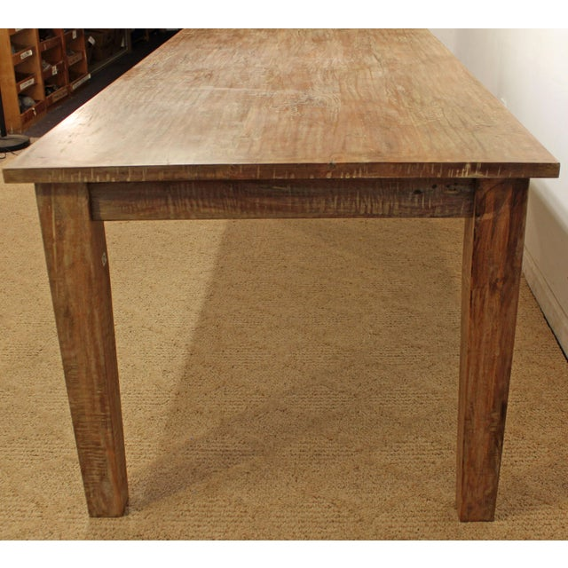 """French Country Farm Rustic Dining Table 90"""" Long - Image 3 of 11"""