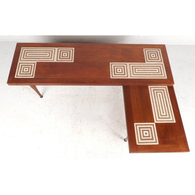 Mid-Century Modern Tile-Tip Pivot Coffee Table For Sale - Image 4 of 11