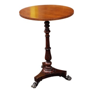 Antique 19th Century Regency Rosewood Pedestal Table C1840 For Sale