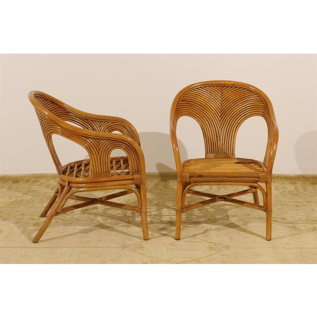 Sculptural Set of Six Vintage Bamboo Dining Chairs For Sale - Image 10 of 11